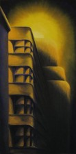 Art Deco Eerie, Oil on canvas, huile sur toile, ©2009 by Duane Gordon